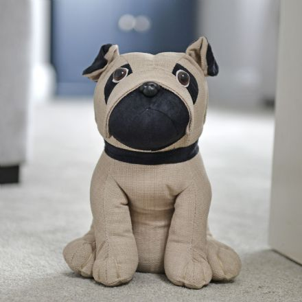 Luxury Pug Puppy Padded Doorstop